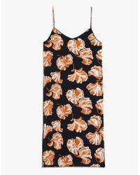 Ganni - Black Geroux Silk Strap Dress - Lyst
