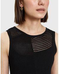 Proenza Schouler Black Sleeveless Patchwork Knit Dress