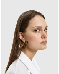 Faris - Metallic Large Ladyday Earrings - Lyst