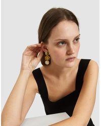 Lizzie Fortunato - Metallic Beaded Drop Earrings - Lyst