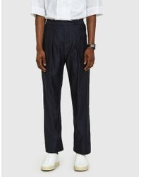 Lemaire - Elasticated Pants In Blue Black for Men - Lyst