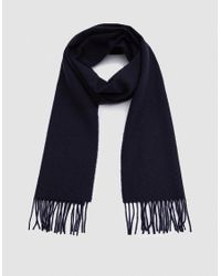 Norse Projects - Blue Norse X Johnstons Lambswool Scarf In Navy for Men - Lyst