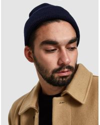 Norse Projects - Blue Norse Beanie for Men - Lyst