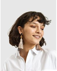 Lizzie Fortunato - Multicolor Modern Craft Earrings In Sand - Lyst