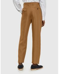 Margaret Howell - Brown Soft Narrow Trouser In Tan for Men - Lyst