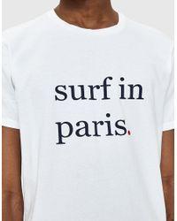 Cuisse De Grenouille - White Esteben Surf In Paris Tee for Men - Lyst