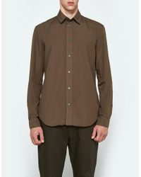 Maison Margiela | Multicolor Garment Dyed Button Down In Military for Men | Lyst