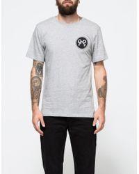 Soulland - Gray Ribbon T-shirt In Grey Melange for Men - Lyst