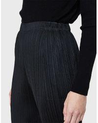 Pleats Please Issey Miyake - Black Pants - Lyst