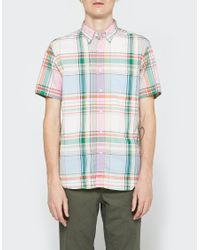 Beams Plus Big Check Short Sleeve Shirt for Men - Lyst