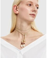 Lizzie Fortunato - Multicolor Sojourn Pearl Lariat Necklace - Lyst