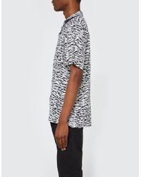 Obey - Uproar Woven Ss Shirt In Black Multi for Men - Lyst
