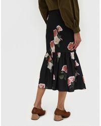 Rejina Pyo - Black Paula Buttoned Ruffle Hem Skirt - Lyst