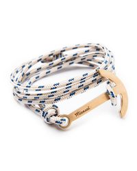 Miansai - Blue Modern Anchor Rope Bracelet for Men - Lyst