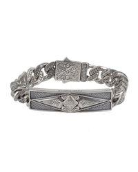 Konstantino - Metallic Men's Sterling Silver Id Bracelet for Men - Lyst