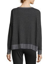 Eileen Fisher | Gray Peruvian Plaited Organic Cotton Box Top | Lyst