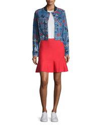Jason Wu - Red Knit Fit-&-flare Miniskirt - Lyst