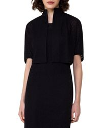 Akris - Black Elbow-sleeve Bolero Jacket - Lyst