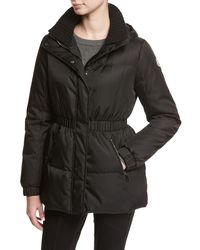 Moncler - Black Fatsia Quilted Puffer Coat - Lyst