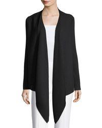 Eileen Fisher - Black Washable Wool Wrap Cardigan - Lyst