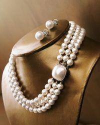 Majorica | Pink Pearl & Cz Stud Earrings | Lyst