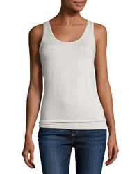 Neiman Marcus | Multicolor Soft Touch Scoop-neck Tank | Lyst