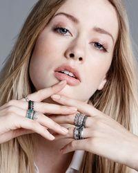 Armenta - Black Scattered Diamond Ring - Lyst