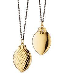 Monica Rich Kosann - Metallic 18k Gold Owl Pendant Necklace - Lyst
