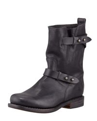 Rag & Bone | Black Moto Leather Boot | Lyst