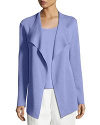 Eileen Fisher - Blue Open Interlock Jacket - Lyst