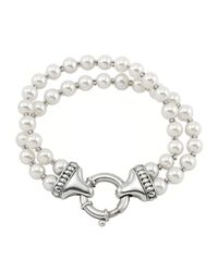 Lagos | Metallic Luna Pearl Double-strand Bracelet | Lyst