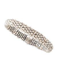 Lagos - Metallic Caviar Oval Bracelet - Lyst