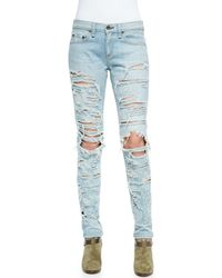 Rag & Bone - Blue The Dre Destroyed Relaxed Jeans - Lyst