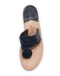 Jack Rogers - Blue Nantucket Leather Thong Sandal - Lyst