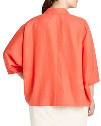 Lafayette 148 New York - Orange Margriet Open Linen Topper Jacket - Lyst