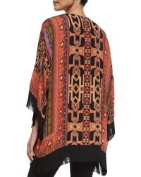 Etro - Red Geometric Silk Fringe Jacket - Lyst