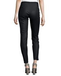 Eileen Fisher - Black Coated Stretch Denim Leggings - Lyst