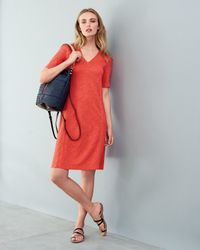 Eileen Fisher - Orange Half-Sleeved A-Line Dress - Lyst