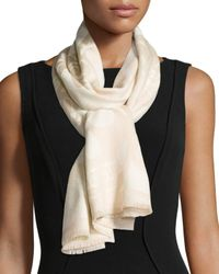 Alexander McQueen | Brown Oversized Bloom Skull Scarf | Lyst