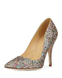 kate spade new york   Multicolor Licorice Too Glitter Point-toe Pump   Lyst