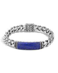 John Hardy | Blue Gourmette Classic Chain Men's Bracelet With Lapis for Men | Lyst