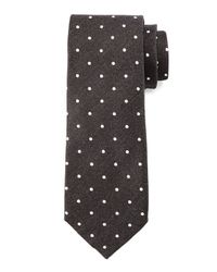 Tom Ford - Black Herringbone-dot Print Tie for Men - Lyst