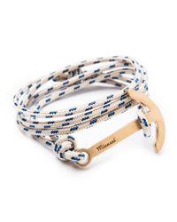 Miansai | Blue Modern Anchor Rope Bracelet for Men | Lyst