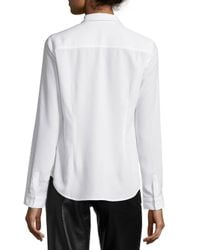 NYDJ - White Fit Solution Ruffle Blouse - Lyst