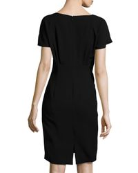 Lafayette 148 New York - Blue Marion Short-sleeve Sheath Dress - Lyst