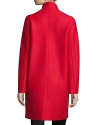 Harris Wharf London - Orange Double-face Wool Hidden Placket Coat - Lyst