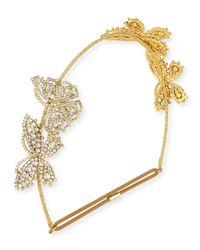 Jennifer Behr | Metallic Mariposa Crystal Circlet Headband | Lyst