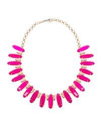 Kendra Scott - Pink Gabriella Statement Necklace - Lyst