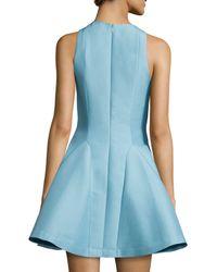 Halston - Blue Sleeveless Fit & Flare Dress - Lyst