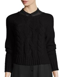 Eileen Fisher | Black Fisher Project Cable-knit Crop Top | Lyst